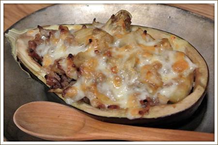 米茄子とひき肉の和風チーズ焼き