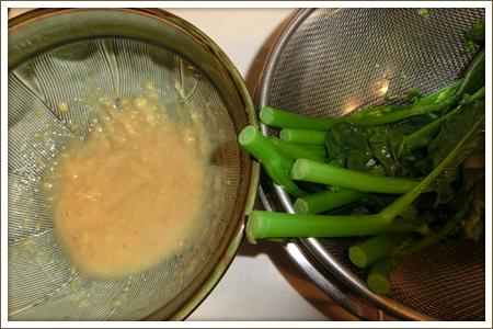 「花ッコリーの即席酢味噌和え」制作画像