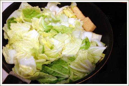 白菜と厚揚げの中華風煮物