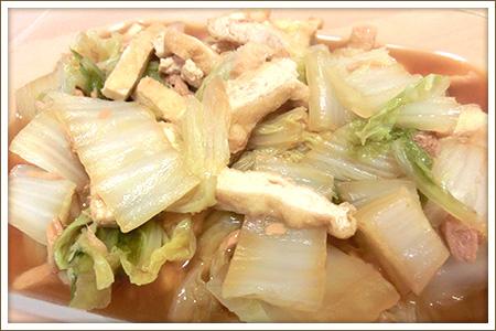 ツナと白菜とうす揚げのさっと煮