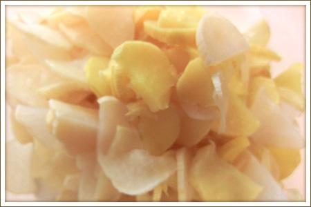 「干し大根の梅酢漬け」制作画像