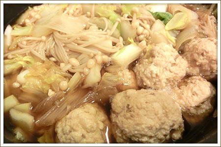 鳥豆腐団子のすき焼き風
