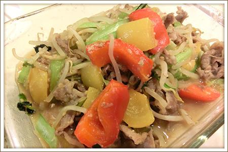 豚肉と野菜のごまみそ炒め