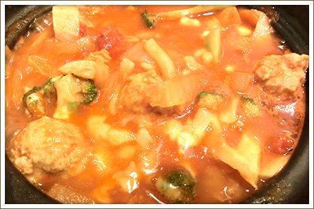 煮込み風トマト鍋