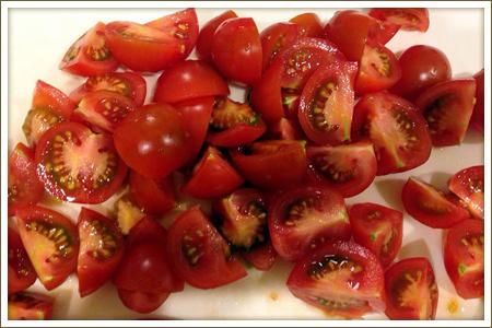 「プチトマトのハニーサラダ」制作画像