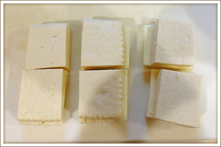 「とうふのチーズフライ」制作画像