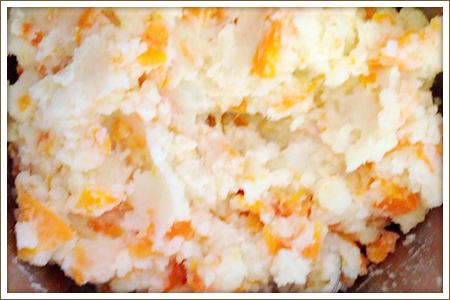 「カラフルポテトサラダ」制作画像